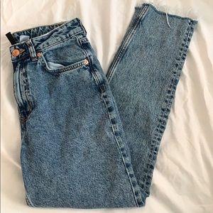 H&M Vintage Wash Mom Jeans